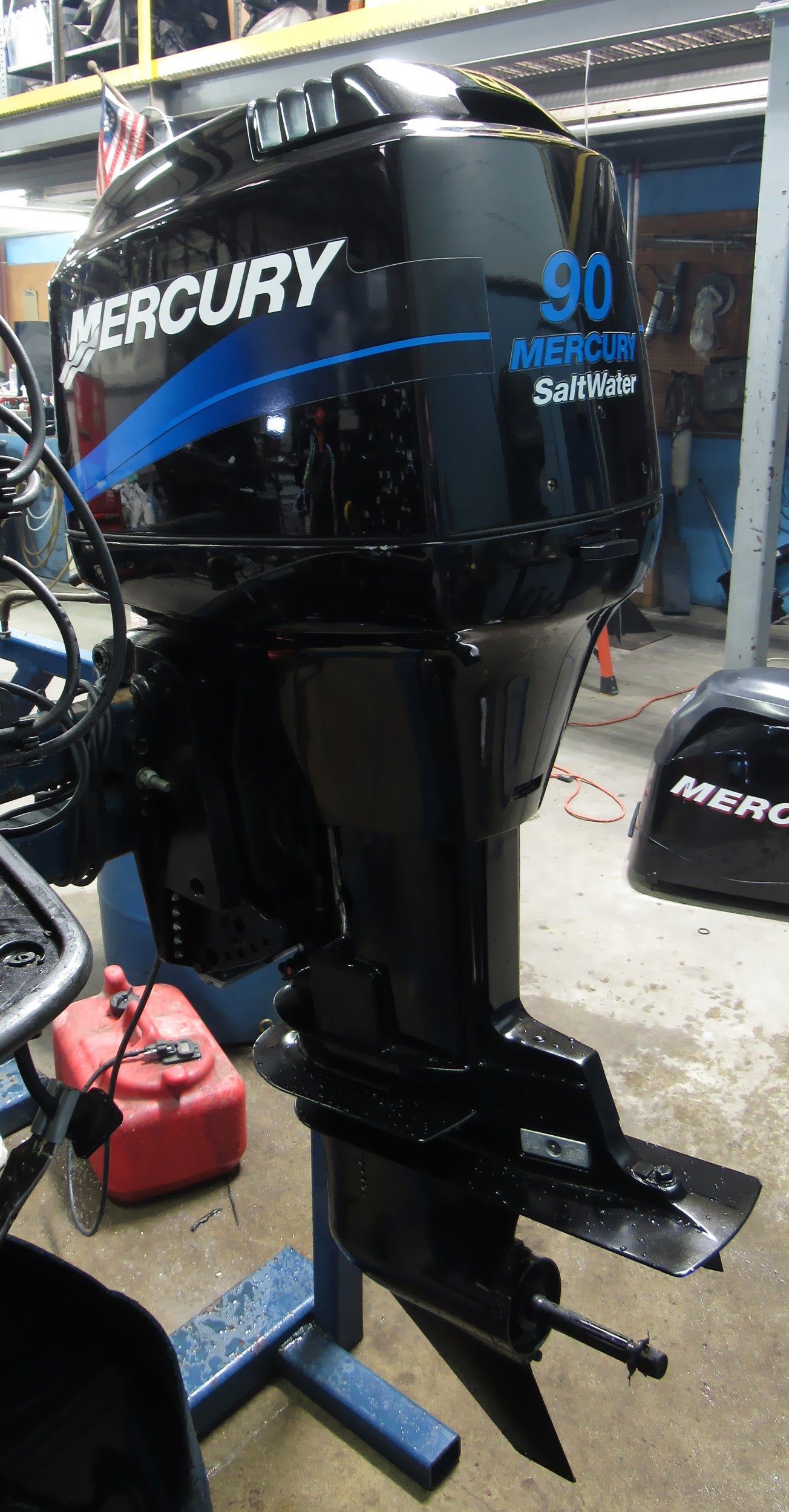 used 2000 mercury 90elpto 90hp 2 stroke saltwater outboard. Black Bedroom Furniture Sets. Home Design Ideas