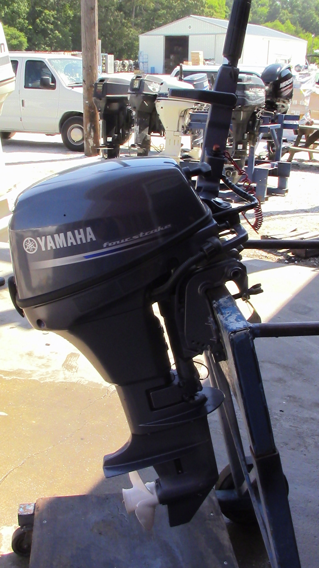 Used 2013 Yamaha F8smha 8hp 4 Stroke Tiller Outboard Boat