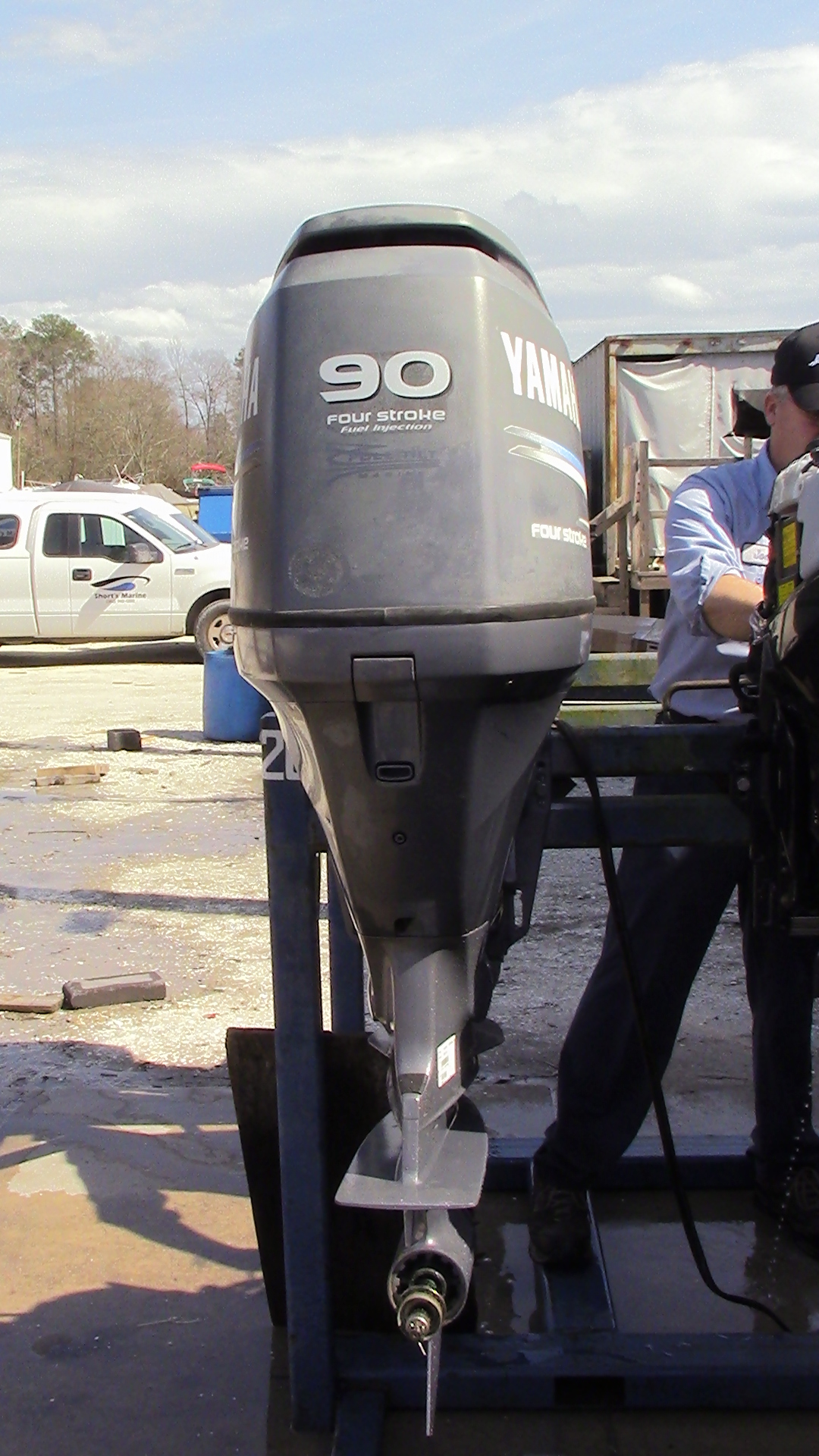 used 2006 yamaha f90tlr 90hp 4 stroke outboard boat motor
