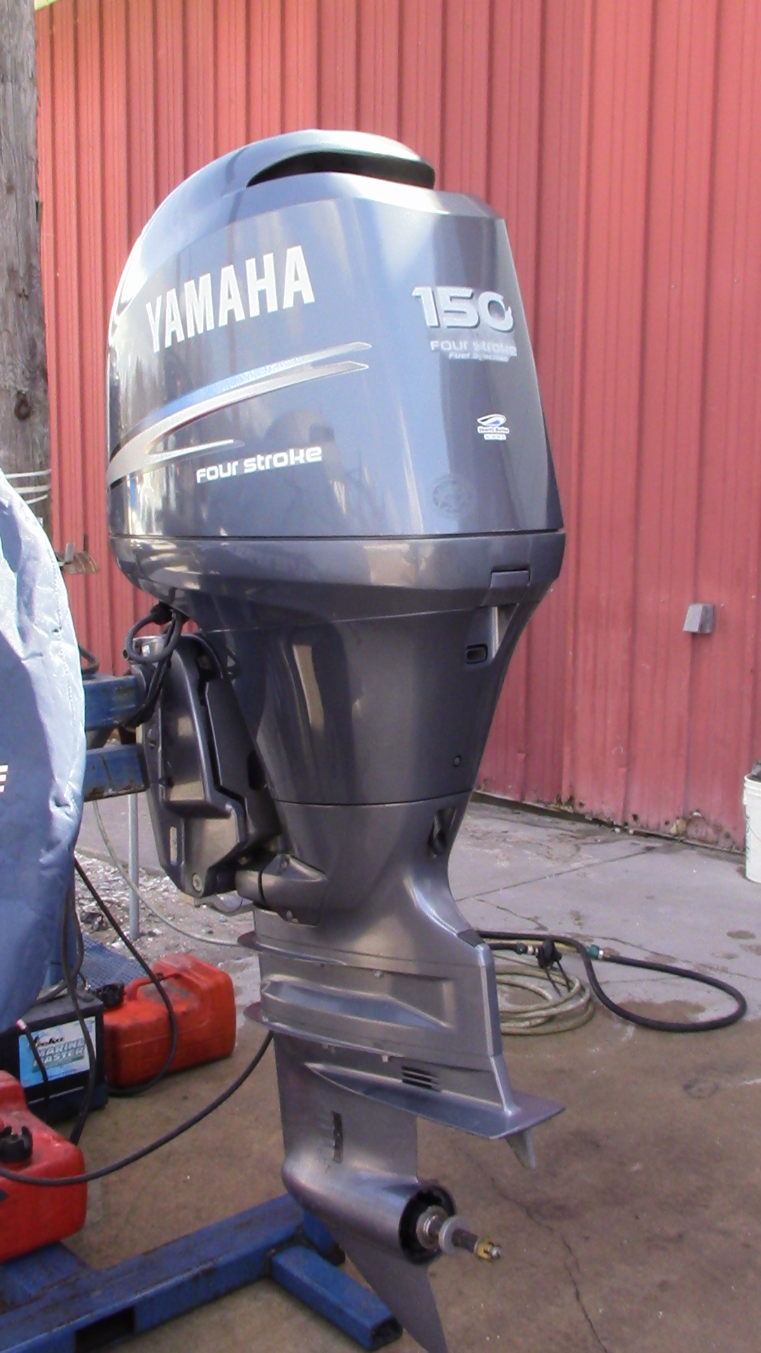 Used 2005 yamaha f150txrd 150hp 4 stroke outboard boat for Yamaha 150 2 stroke fuel consumption