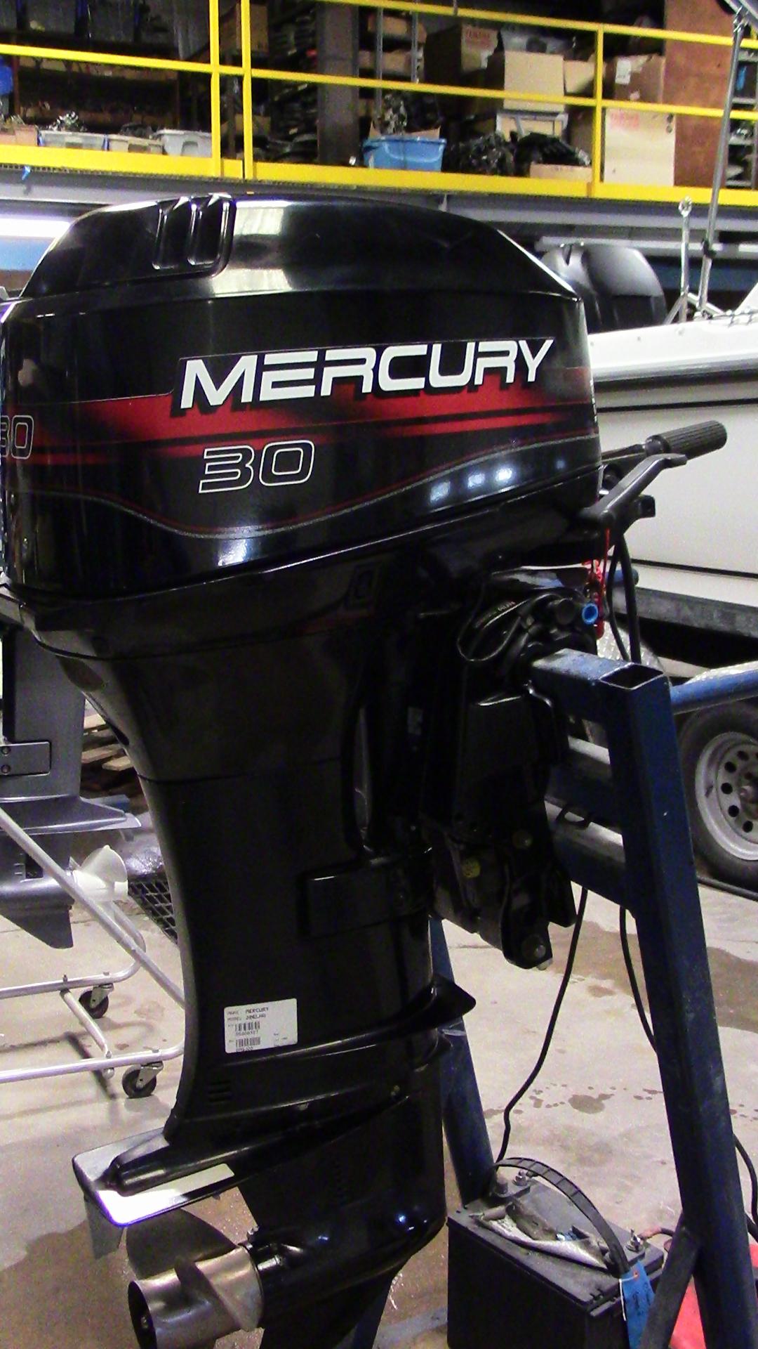 Used 1996 mercury 30elho 30hp 2 stroke tiller outboard for Ebay boat motors outboard