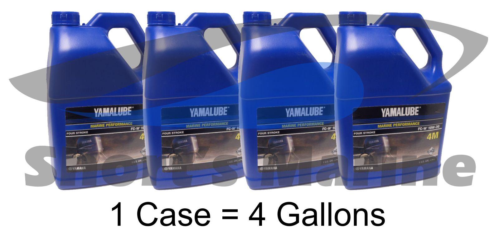 Yamaha 4 Stroke Engine Oil Case of 4 Gallons Yamalube