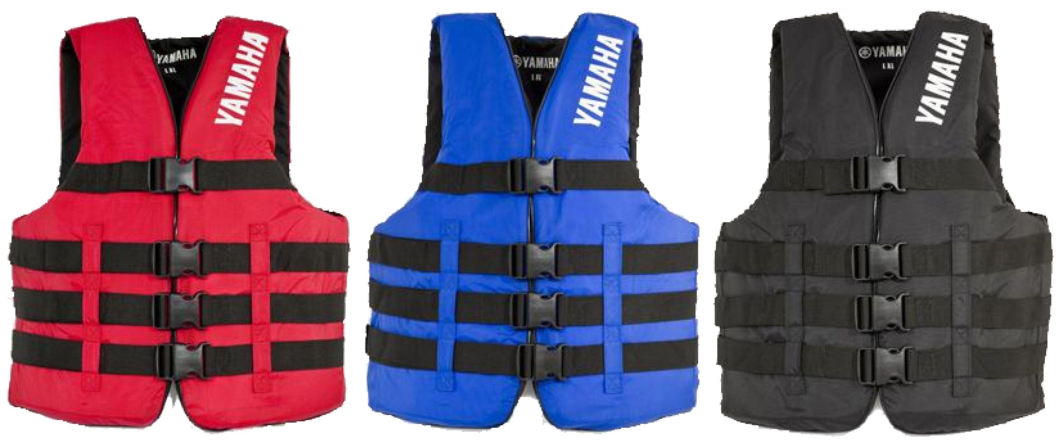 Oem Yamaha Nylon Value 4 Buckle Life Jacket Vest Pfd Blue Small