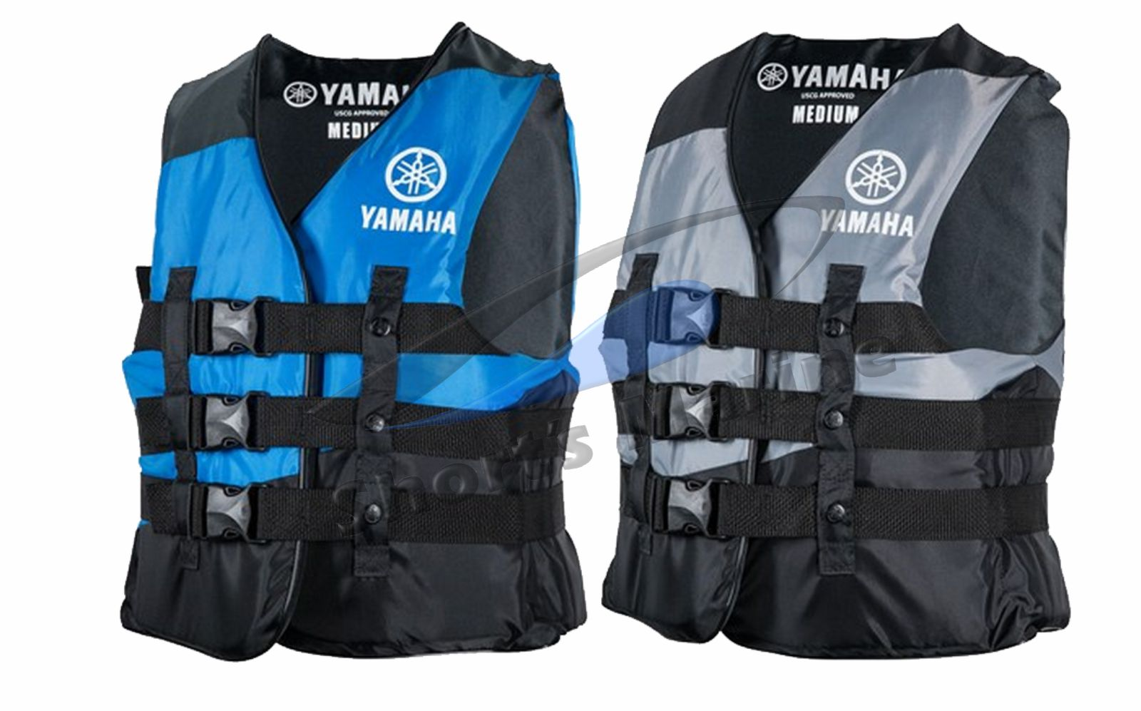 Oem Men S Yamaha Value Nylon 3 Buckle Pfd Life Jacket Vest Ebay