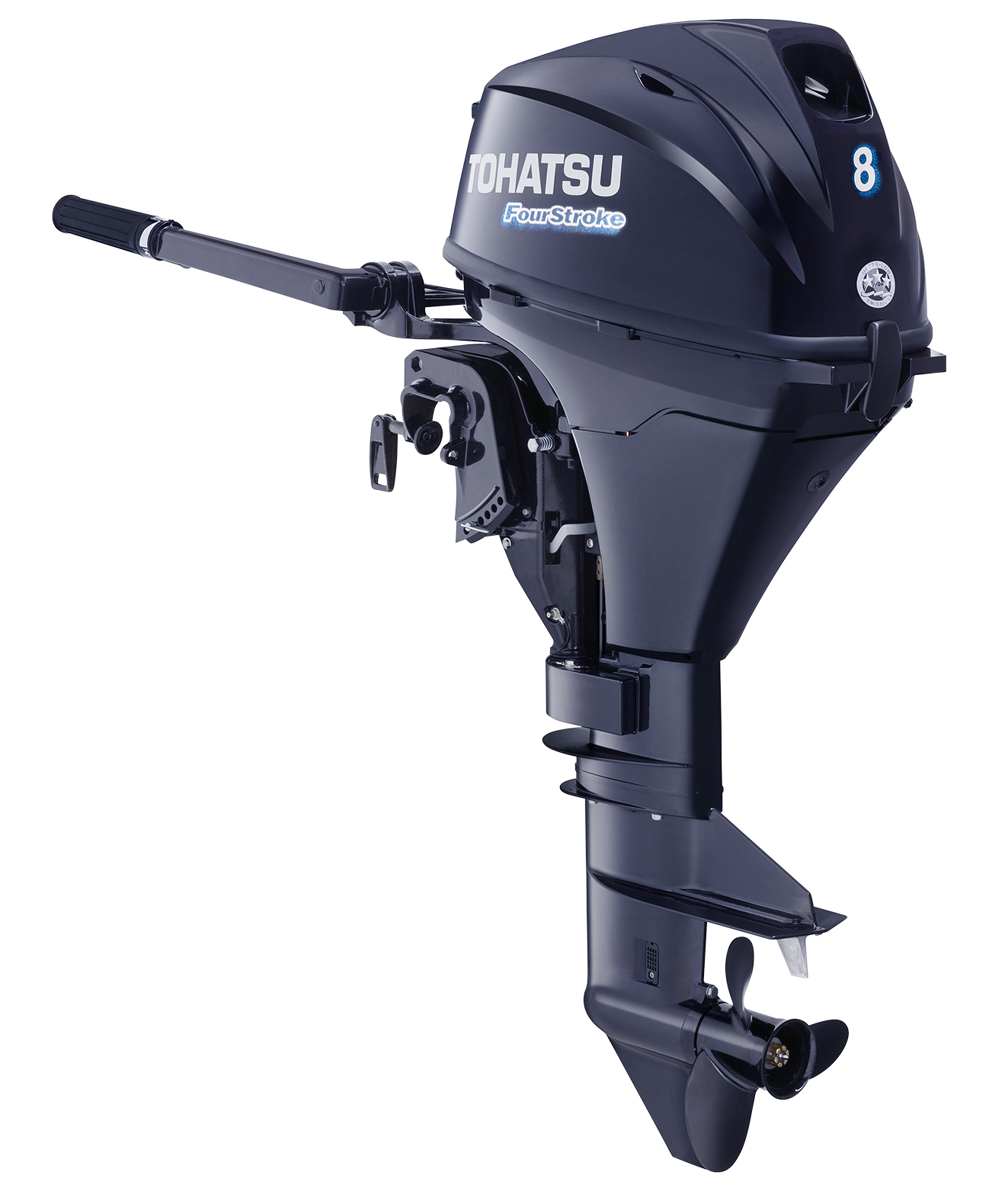2017 Tohatsu 8 Hp 4 Stroke Outboard Motor Tiller 15 Shaft