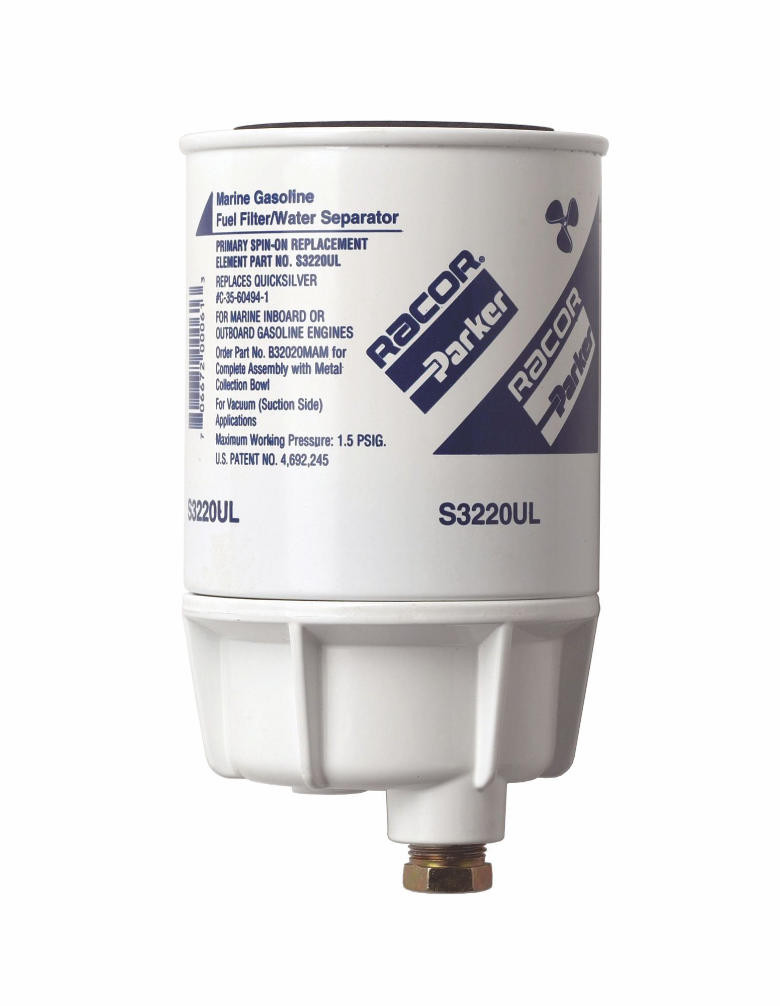Marine Fuel Filter Parker Racor Inboard Outboard Micron Mercury Water Separator Mam 1551x2000