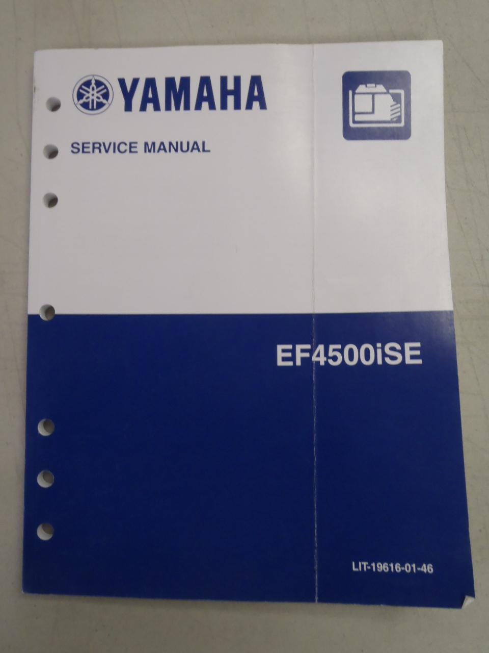 Used Yamaha EF4500iSE Generator Factory Service Manual LIT-19616-01-46