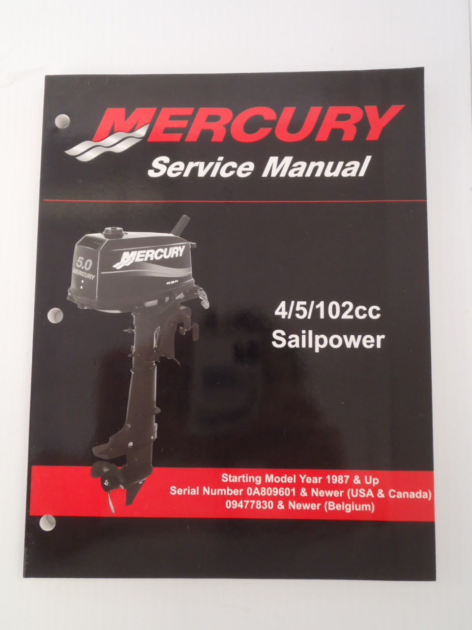 Used Mercury Outboards 4/5/102cc Sailpower Factory Service Manual  90-17308R02