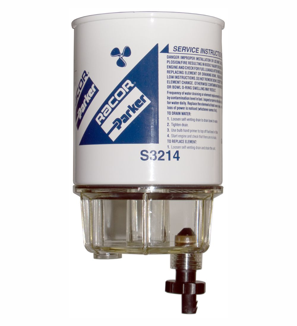 Racor Spin-On Fuel Filter/Water Separator for Gas Johnson Evinrude B32014