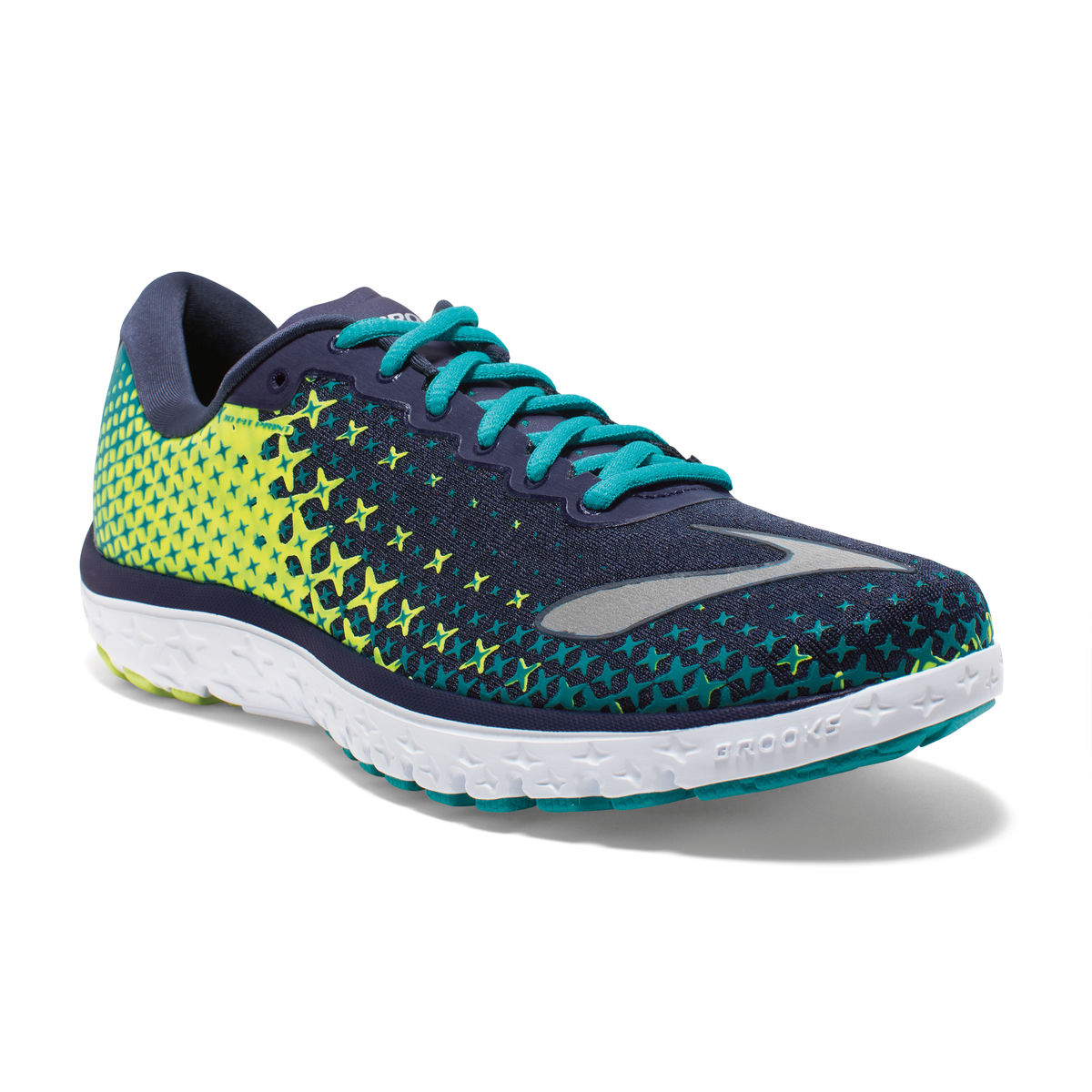 85589a89a75e7 Details about Women s Brooks PureFlow 5 Running Shoe Peacoat Navy Nightlife  Lapis