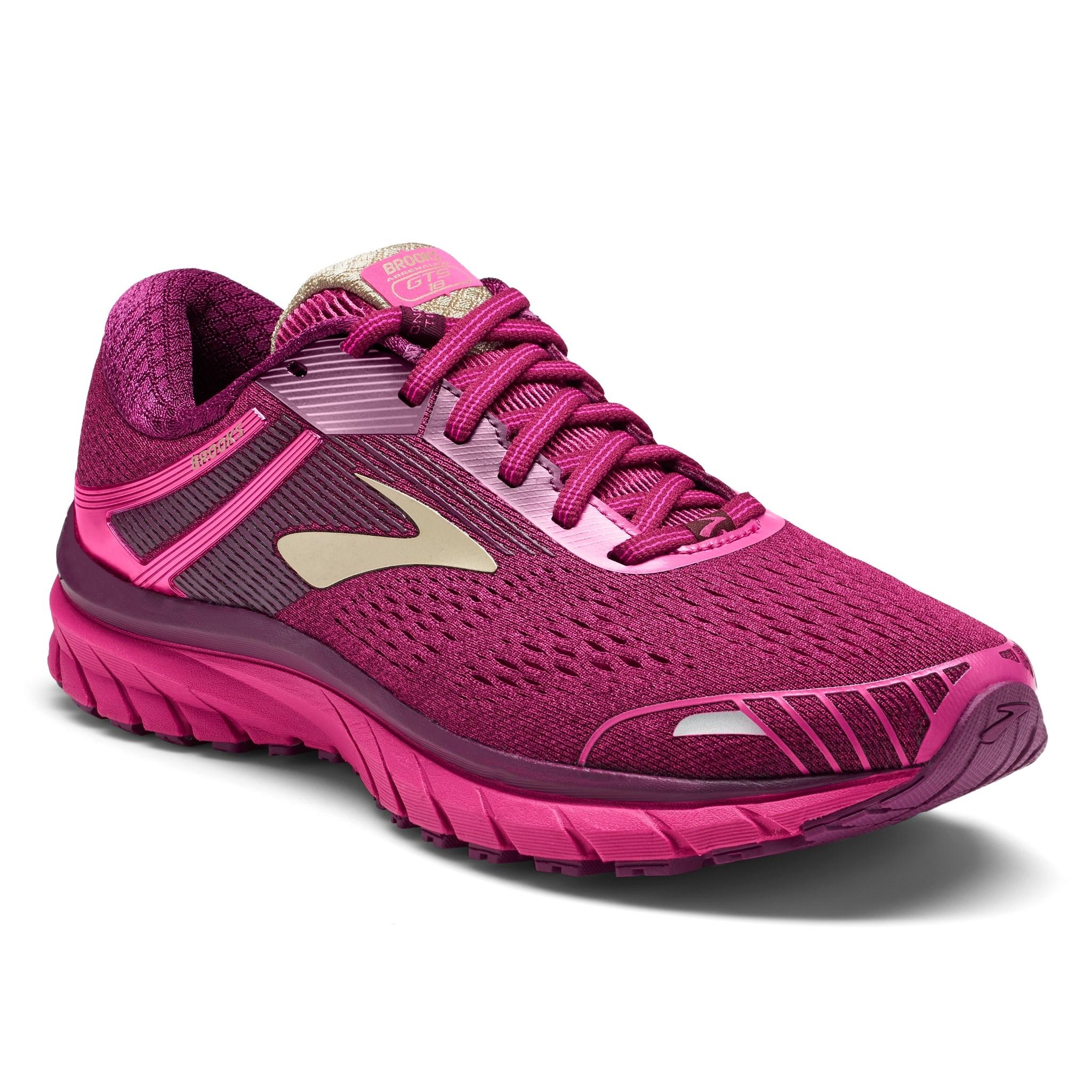 2b01cc5011d Details about Women s Brooks Adrenaline GTS 18 Running Shoe Pink Plum  Champagne