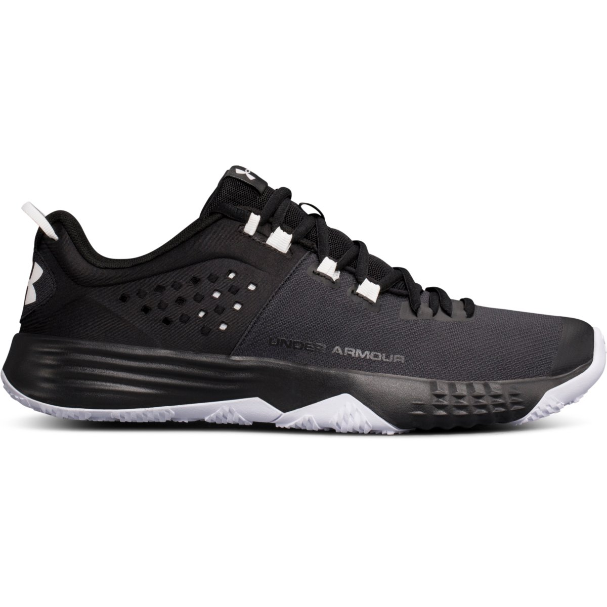brand new 1167f 893a2 ... Men s Under Under Under Armour BAM Training Shoe Black White 127990 ...