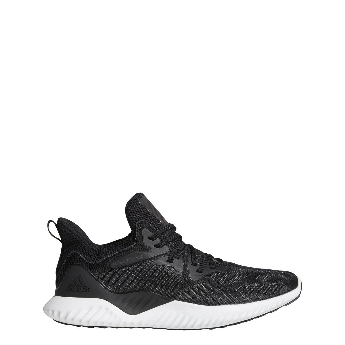 new style 48697 0a5a1 Details about Men s Adidas Alphabounce Beyond Running Shoe Black White
