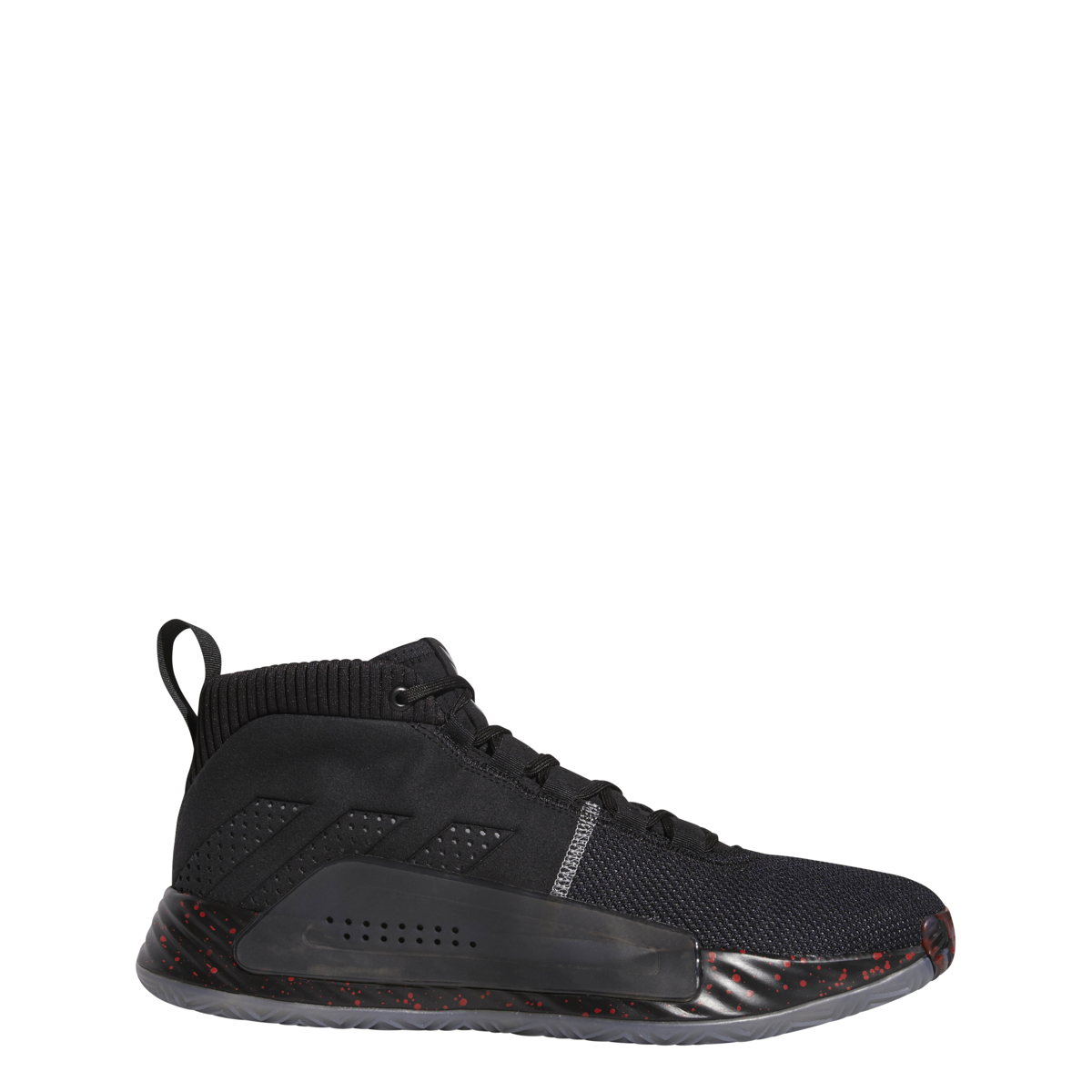 premium selection 6c477 7ebe0 Details about Men s Adidas Dame 5 Basketball Shoe Black Grey