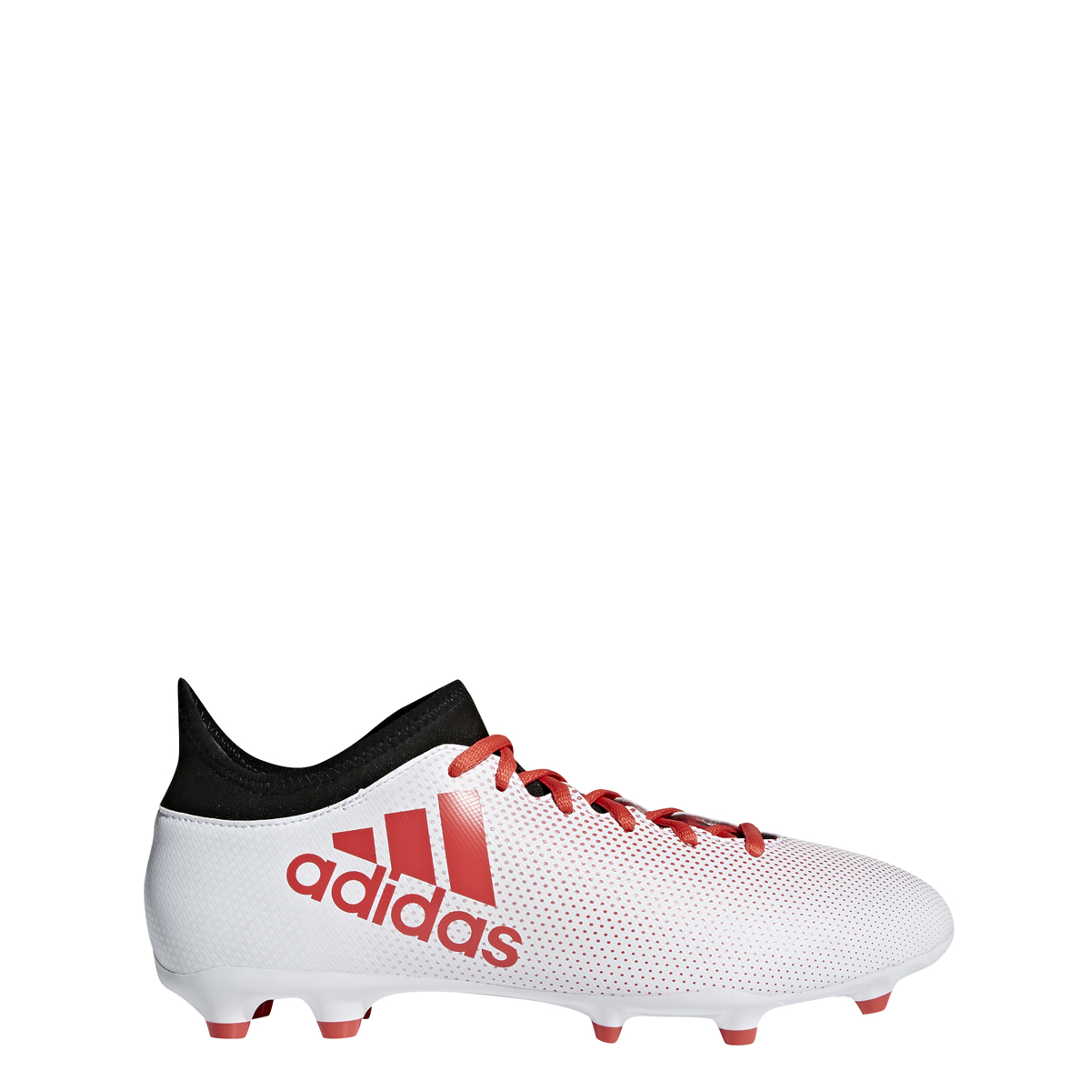 best authentic 7fd14 d9ffd Details about Men s Adidas X 17.3 FG Soccer Cleat White Red Black