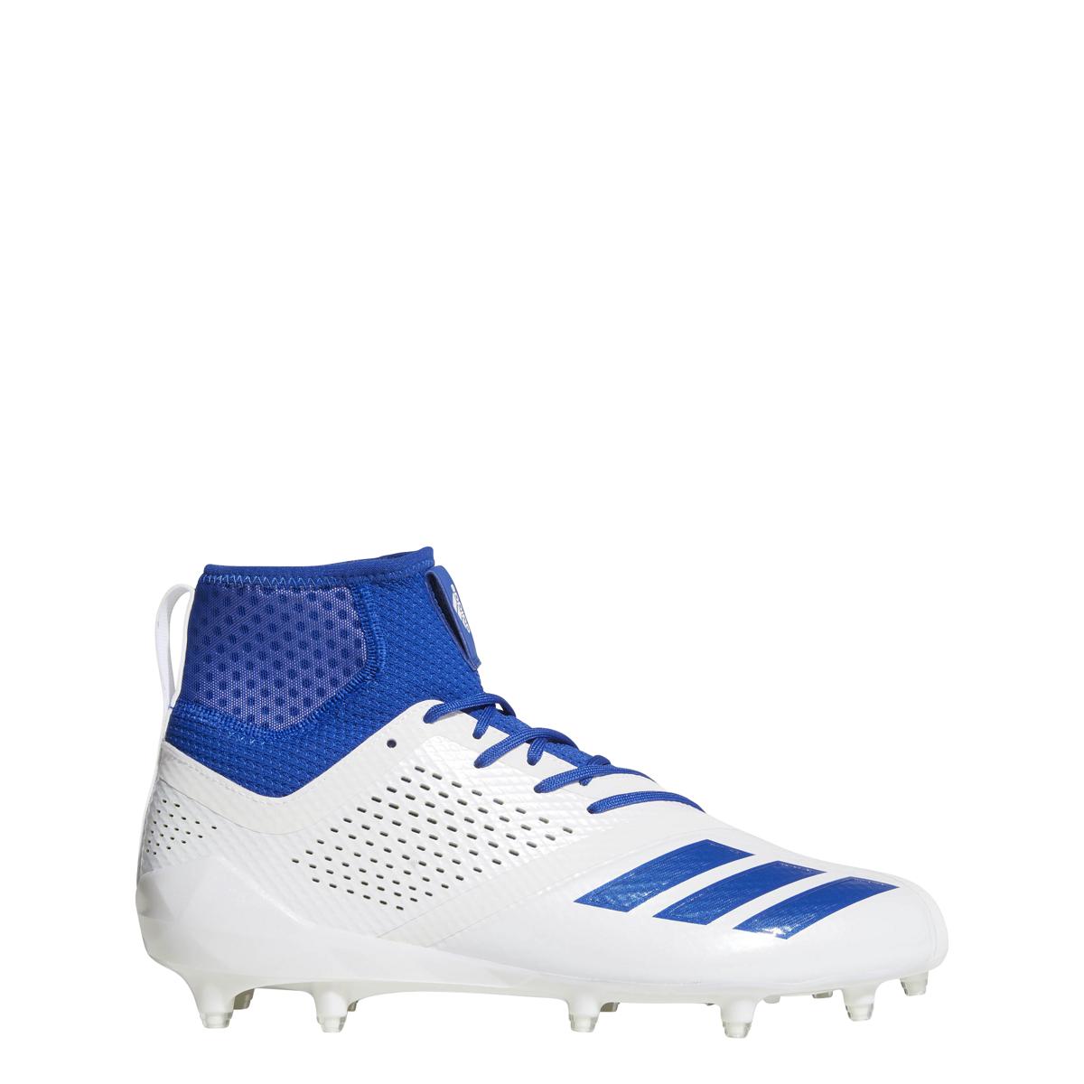 19e20ed0e Details about Men s Adidas Adizero 5 Star 7.0 SK Football Cleat  White Collegiate Royal