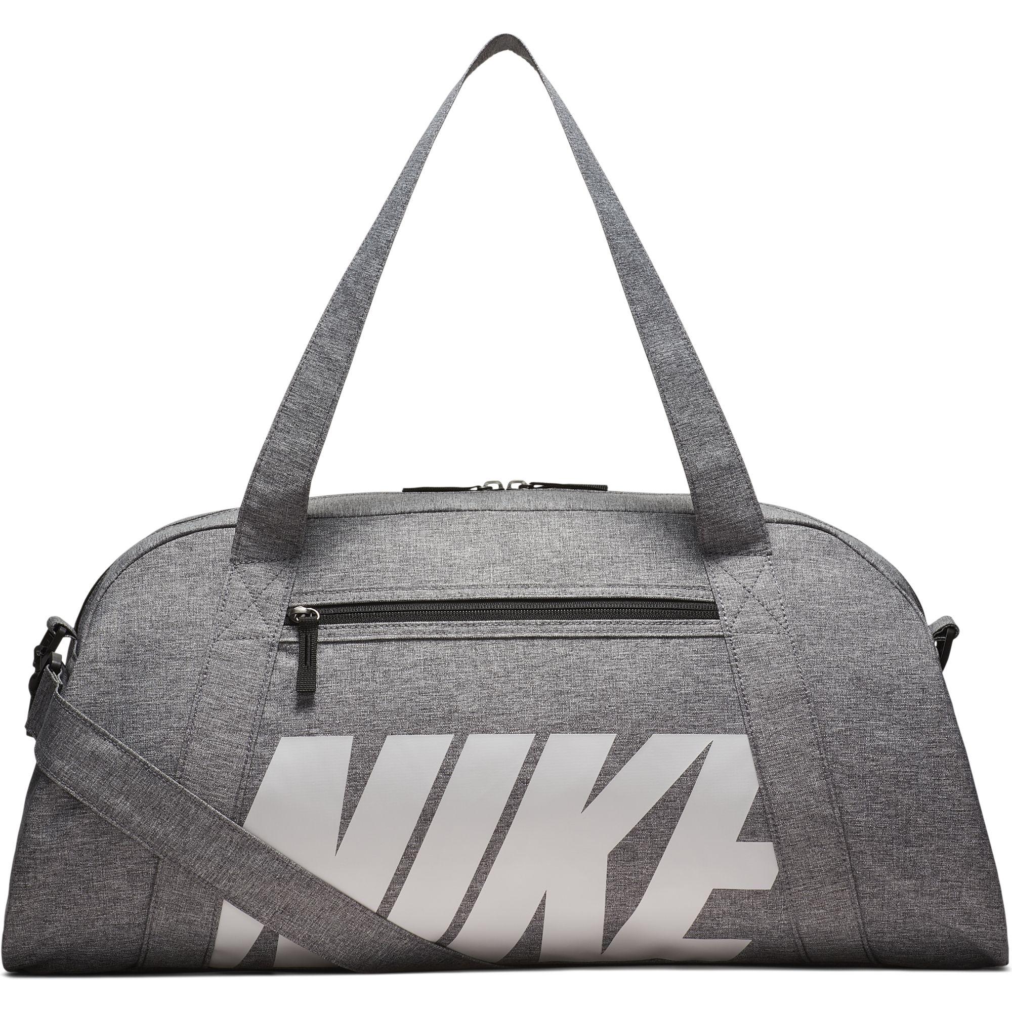34c3087787fa Details about Women s Nike Gym Club Training Duffel Bag Black Vast Grey