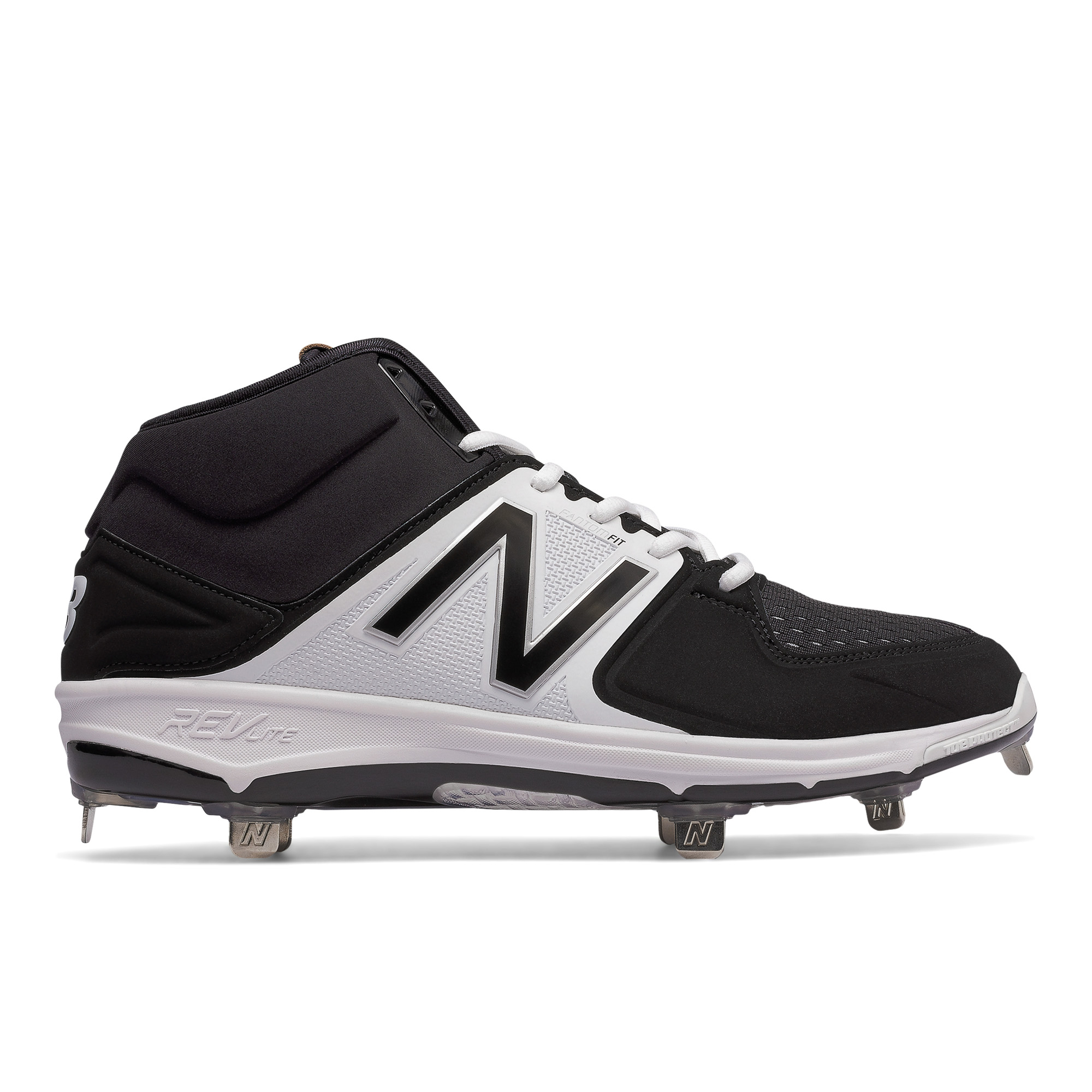 Details about Men s New Balance Mid Cut Metal 3000v3 Baseball Cleat  Black White 2fc94956edf