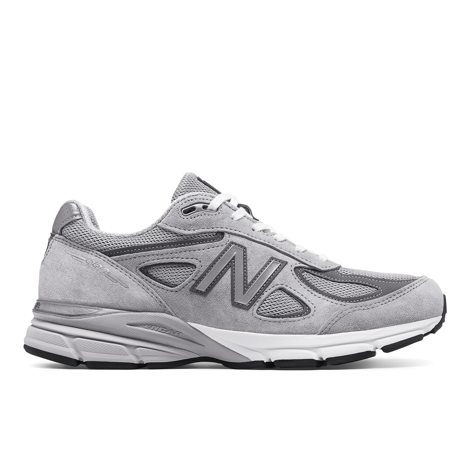 d8580b81c61 right view of mens new balance 990 v4 running shoes in grey castle rock