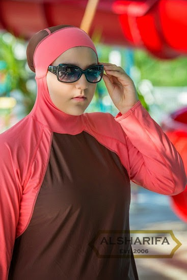 da7920a1ee Al-Sharifa Women s Full Coverage Modest Swimsuit Hijab Hooded ...