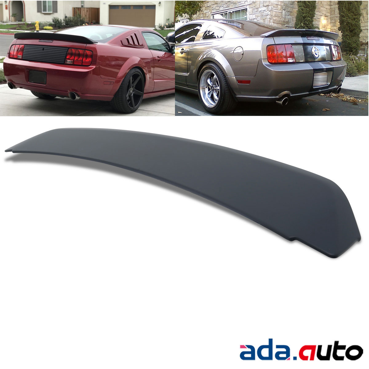 Black Ducktail Style Rear Trunk Spoiler Wing for 2005-2009 Ford Mustang GT500