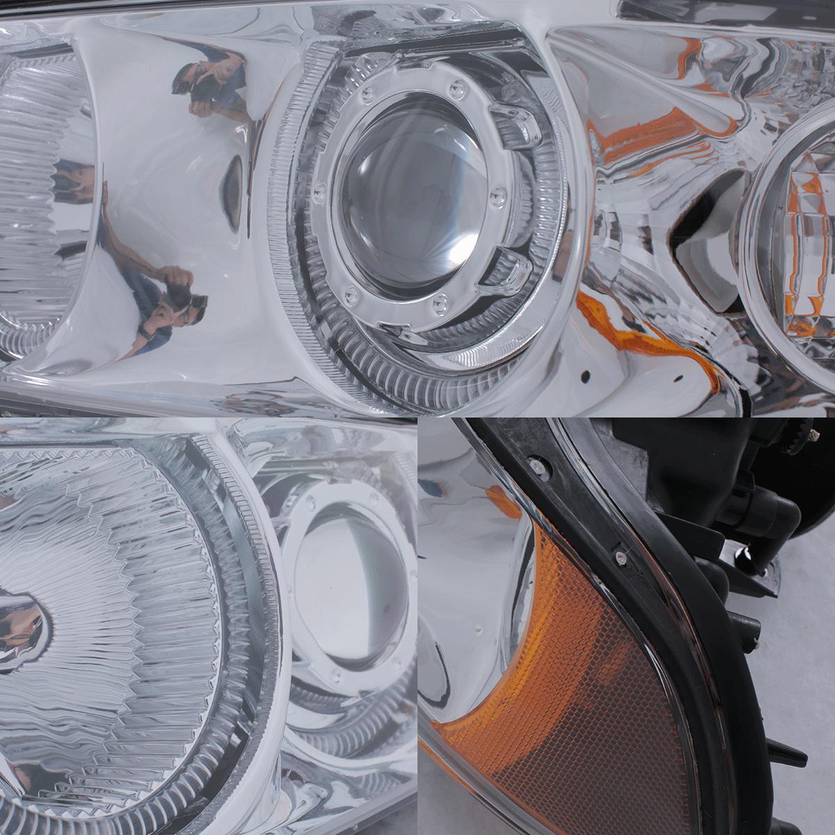 1997 2003 bmw e39 5 series 525i 530i 540i led halo projector chrome headlights. Black Bedroom Furniture Sets. Home Design Ideas