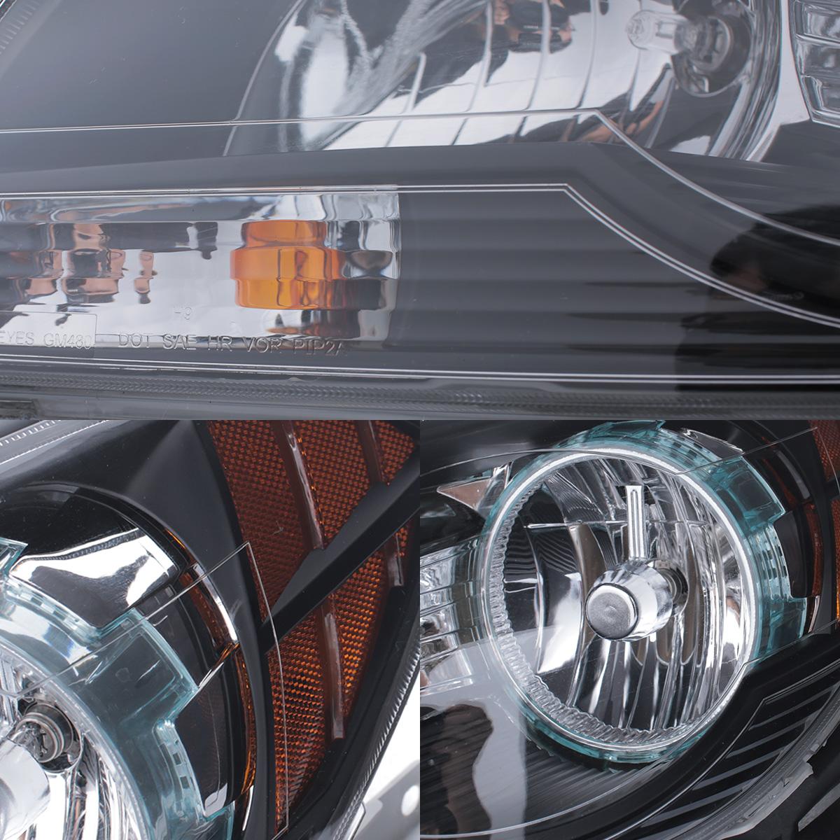 Malibu 2005 chevy malibu headlight bulb : 2008 2009 2010 2011 2012 Chevy Malibu Black Headlights Replacement ...