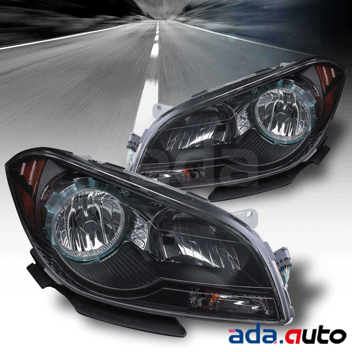 2008 2009 2010 2011 2012 Chevy Malibu Black Headlights