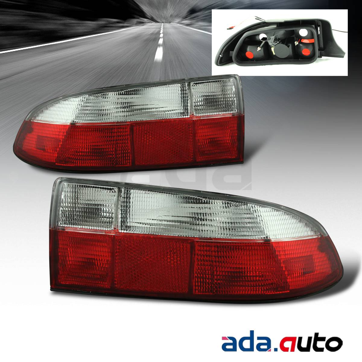 1996-1999 BMW Z3 Roadster Red Clear Tail Lights Replacement Lamps Set