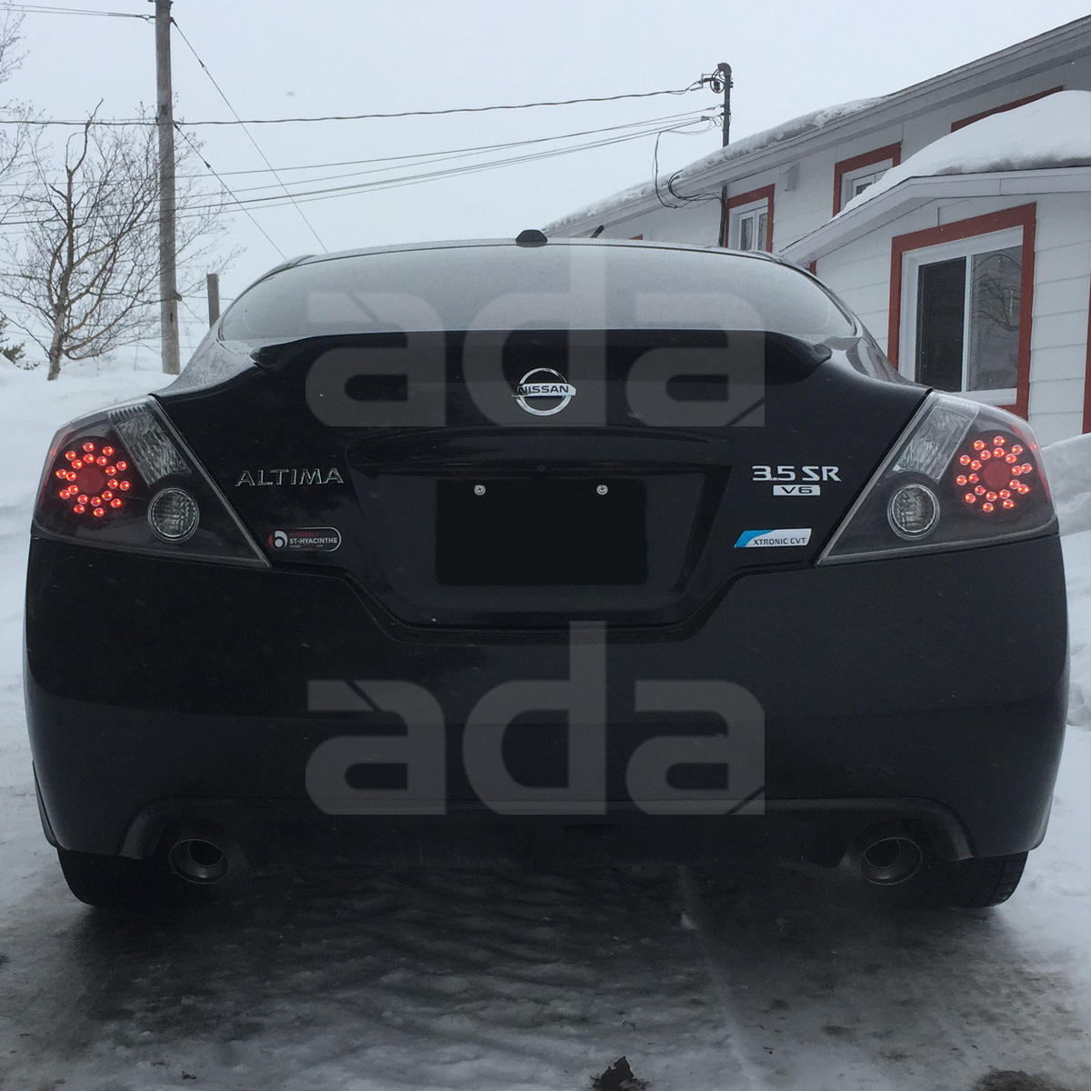 For 2008 2013 Nissan Altima Coupe [Urban Black] LED Tail Lights Left Right  Set