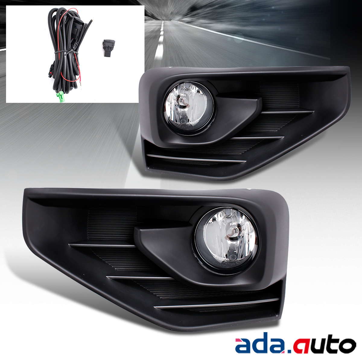 For 2017 2018 Nissan Pathfinder Bumper Fog Lights Switch+Bracket+Wiring  Harness