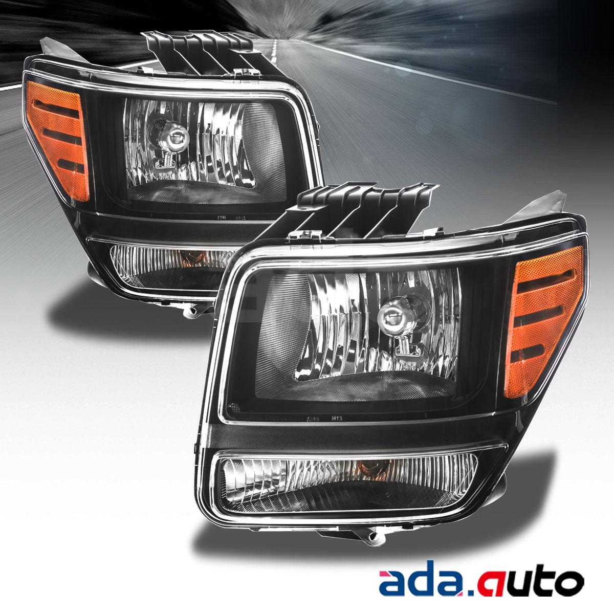 2007-2012 Dodge Nitro Black Headlights Replacement Lamps