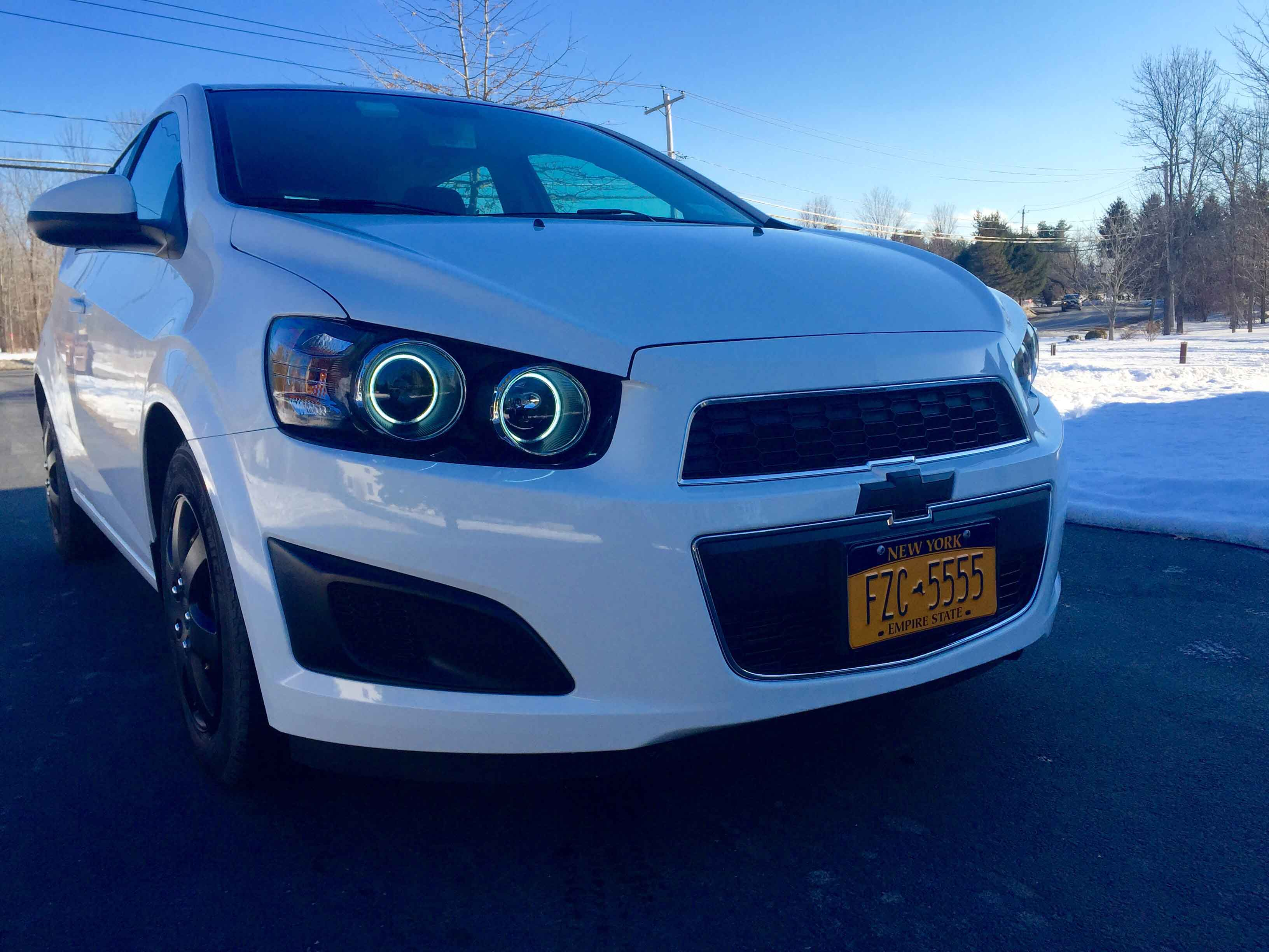 2012 2015 chevy sonic 4dr hatchback ccfl halo black projector headlights pair. Black Bedroom Furniture Sets. Home Design Ideas