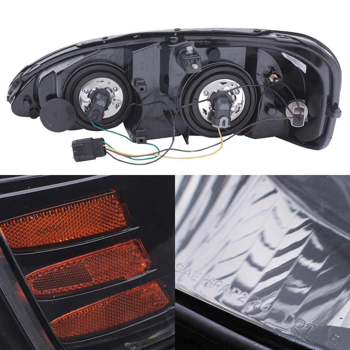 2004 2008 pontiac grand prix black headlights replacement. Black Bedroom Furniture Sets. Home Design Ideas