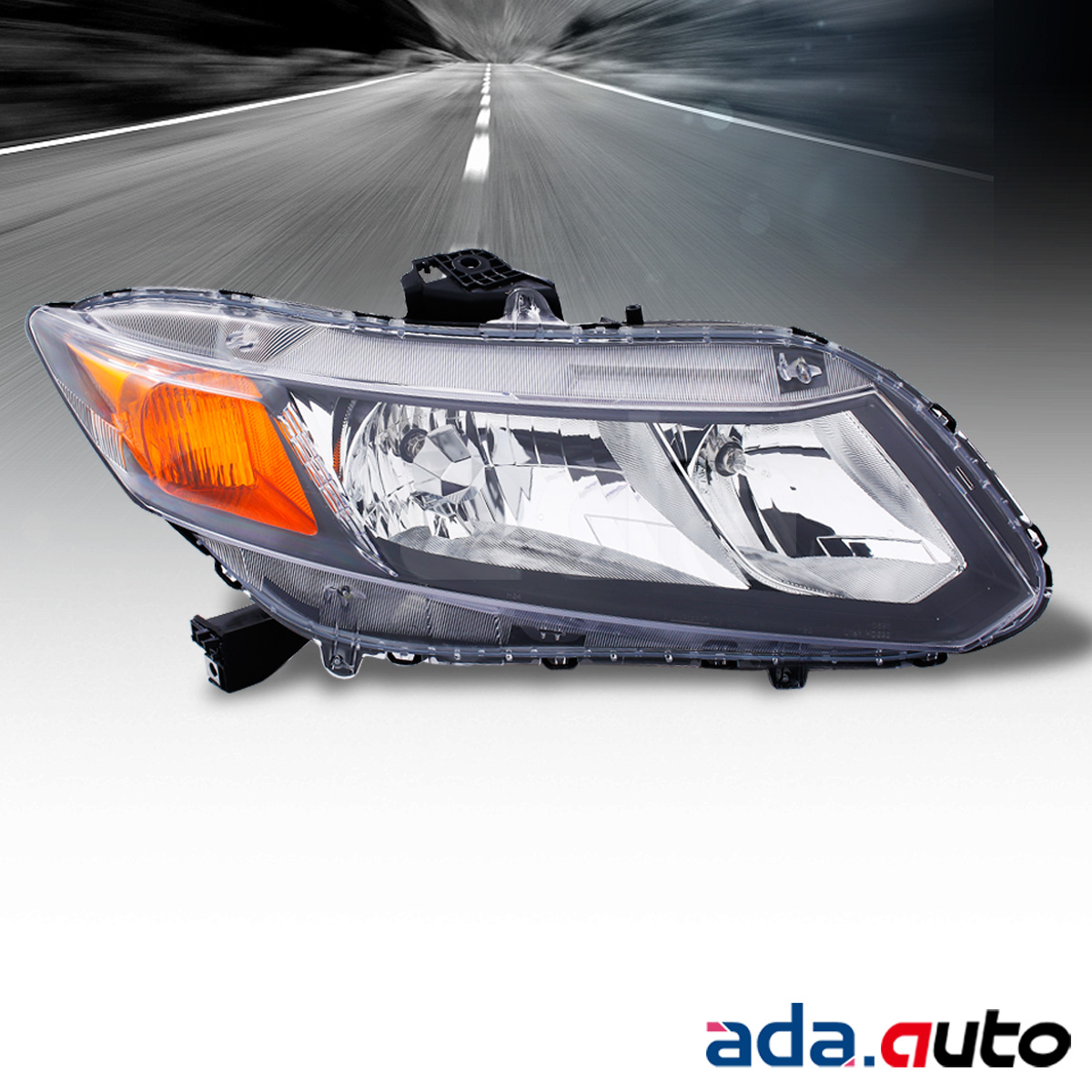 for 2012 2013 honda civic coupe passenger side headlight. Black Bedroom Furniture Sets. Home Design Ideas