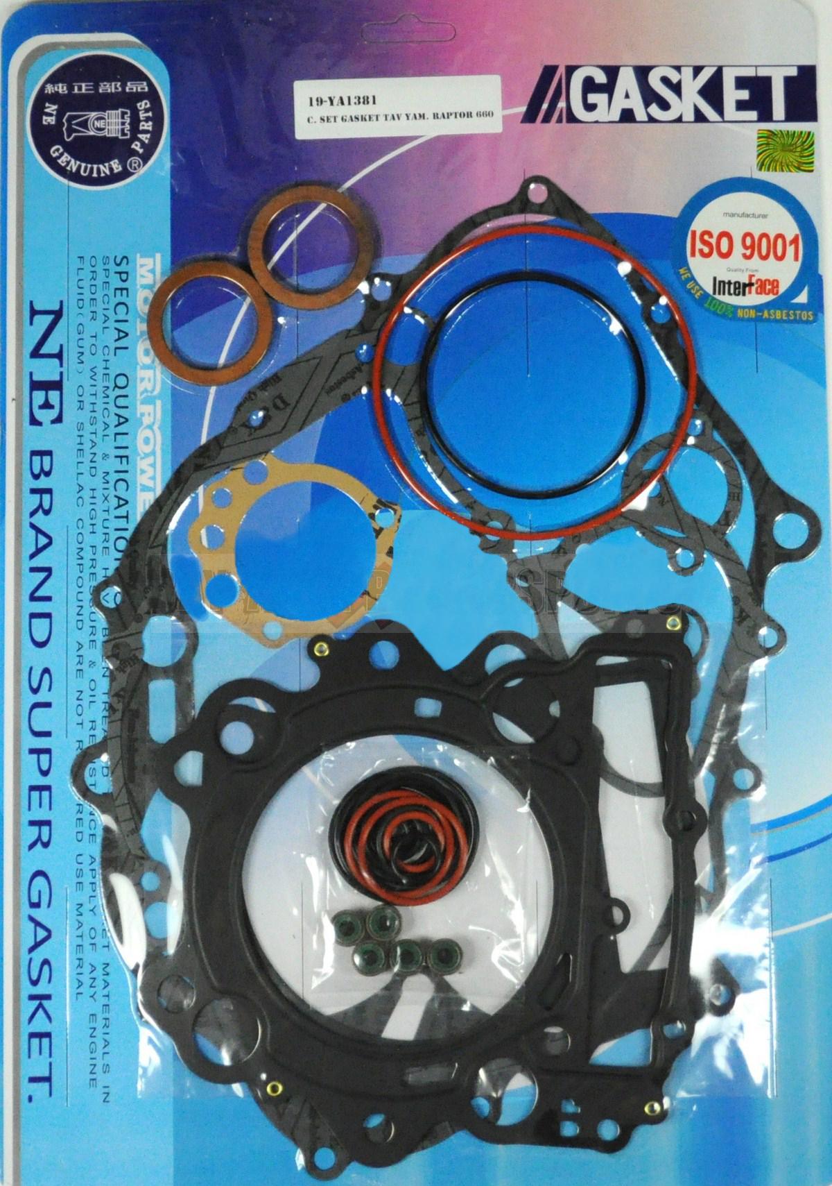 Yamaha Raptor 660 Complete Rebuild Engine Gasket Kit 2001 2005 01 02 03 04 05