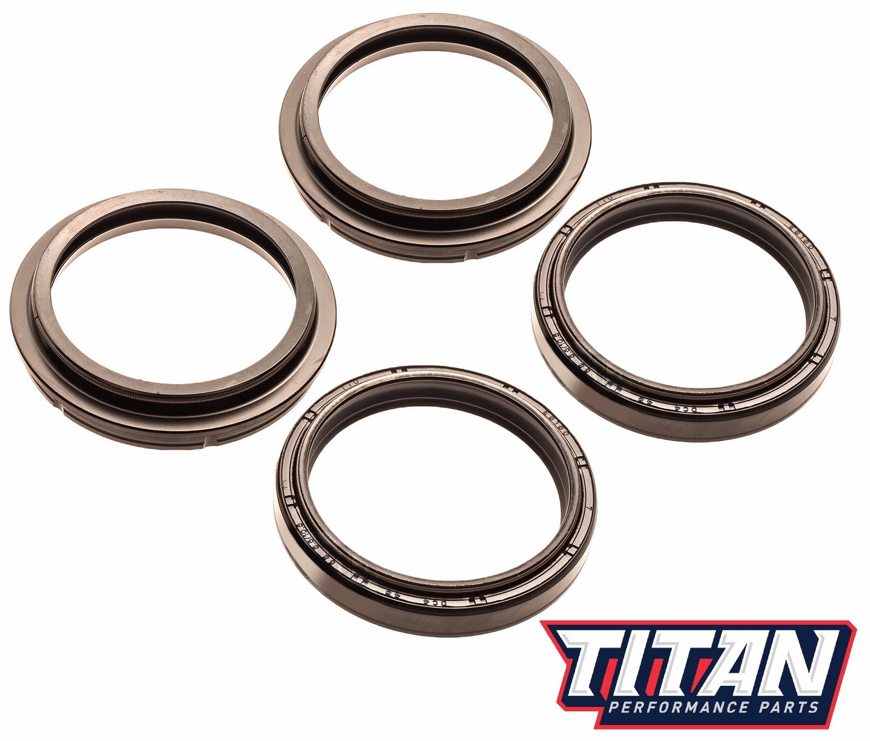 Details about Suzuki RM125 RM250 RMZ250 RMZ450 DRZ400 Titan Fork Oil & Dust  Wiper Seal Kit