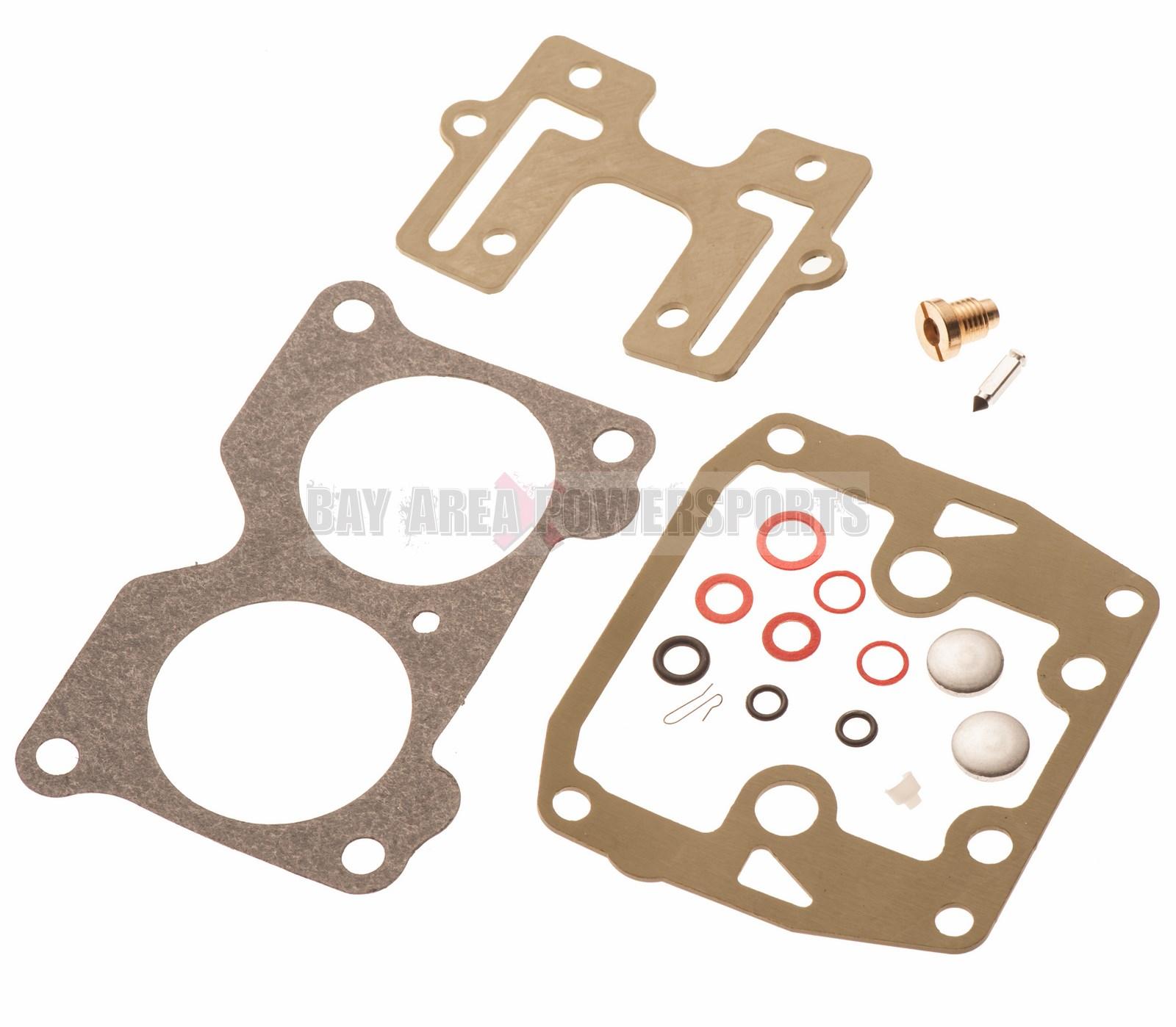 Carburetor 439076 Carb Repair Rebuild Kit for Johnson Evinrude Outboard Motors Replaces 439076