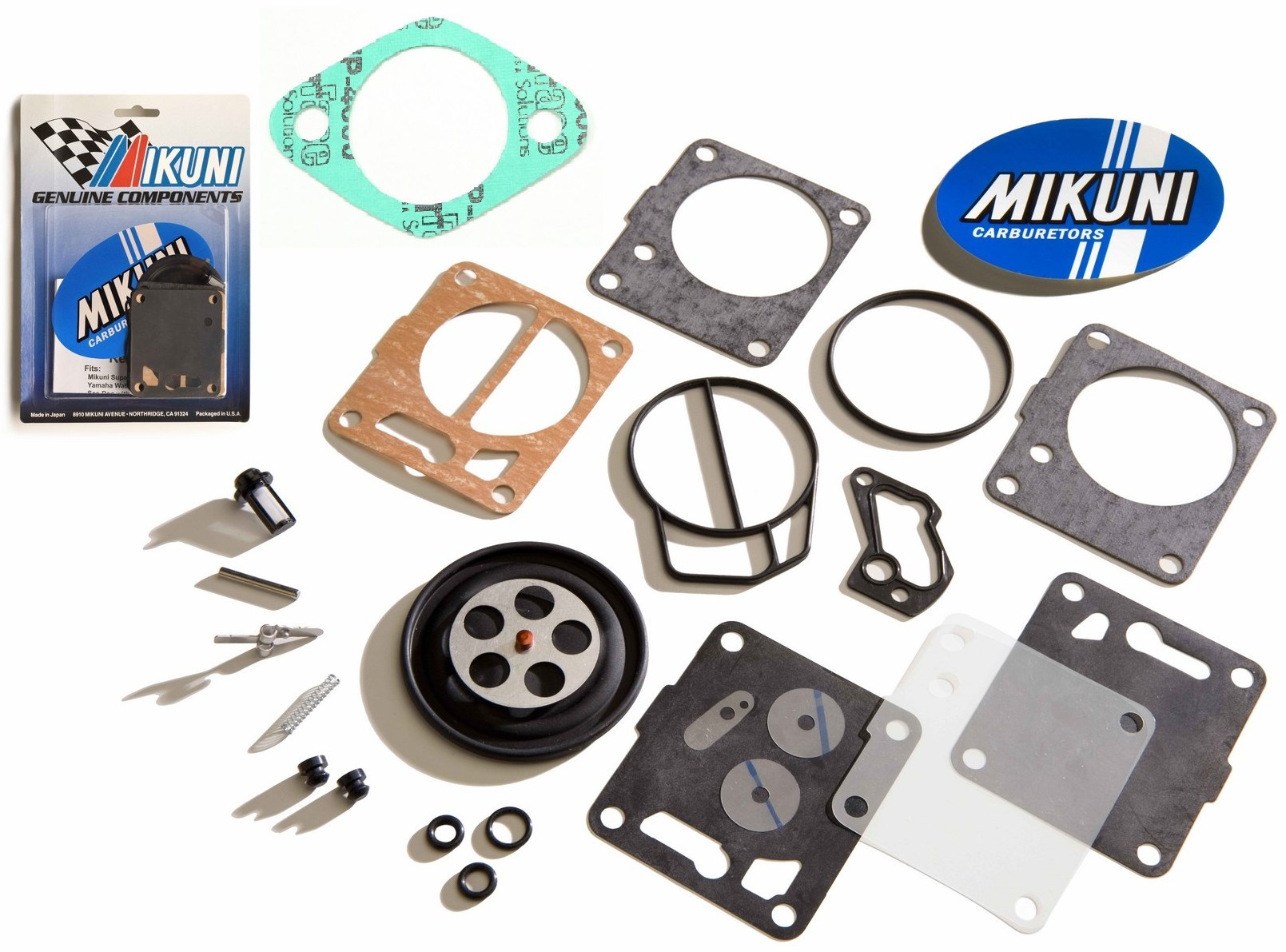 Personal Watercraft Parts Genuine Mikuni Carb Carburetor Rebuild Kit & Base Gasket Seadoo GS GTS GTI Le SP Other Parts