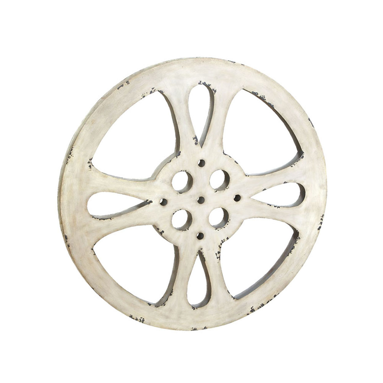 """Hollywood Vintage 42"""" Metal Film Reel Home Movie Theater"""