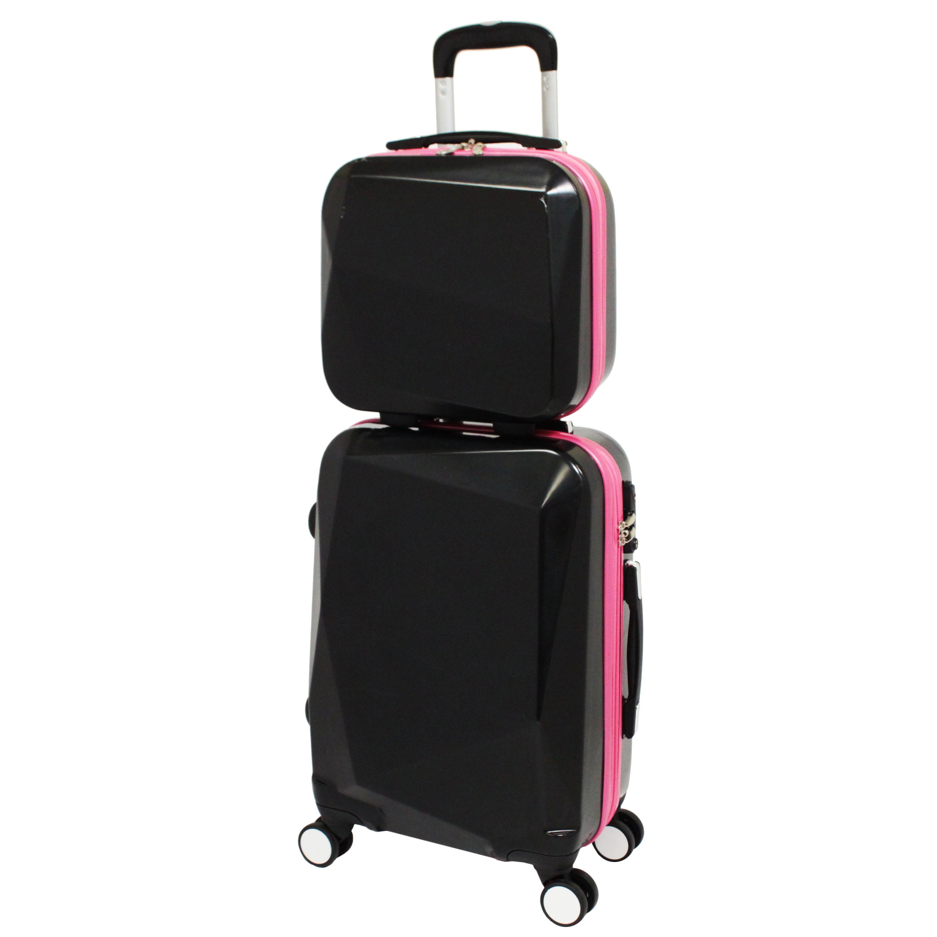 World Traveler Diamond 2-Piece Hardside Carry-on Spinner Luggage ...