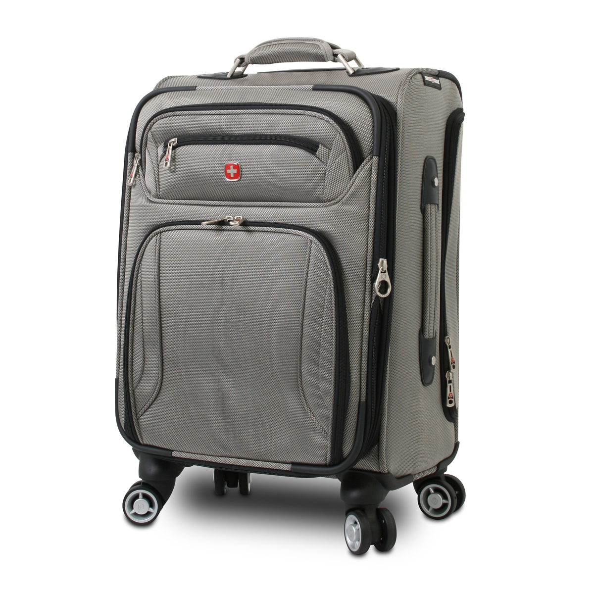 Traveler S Choice   Inch Gray Upright Wheeled Carry On