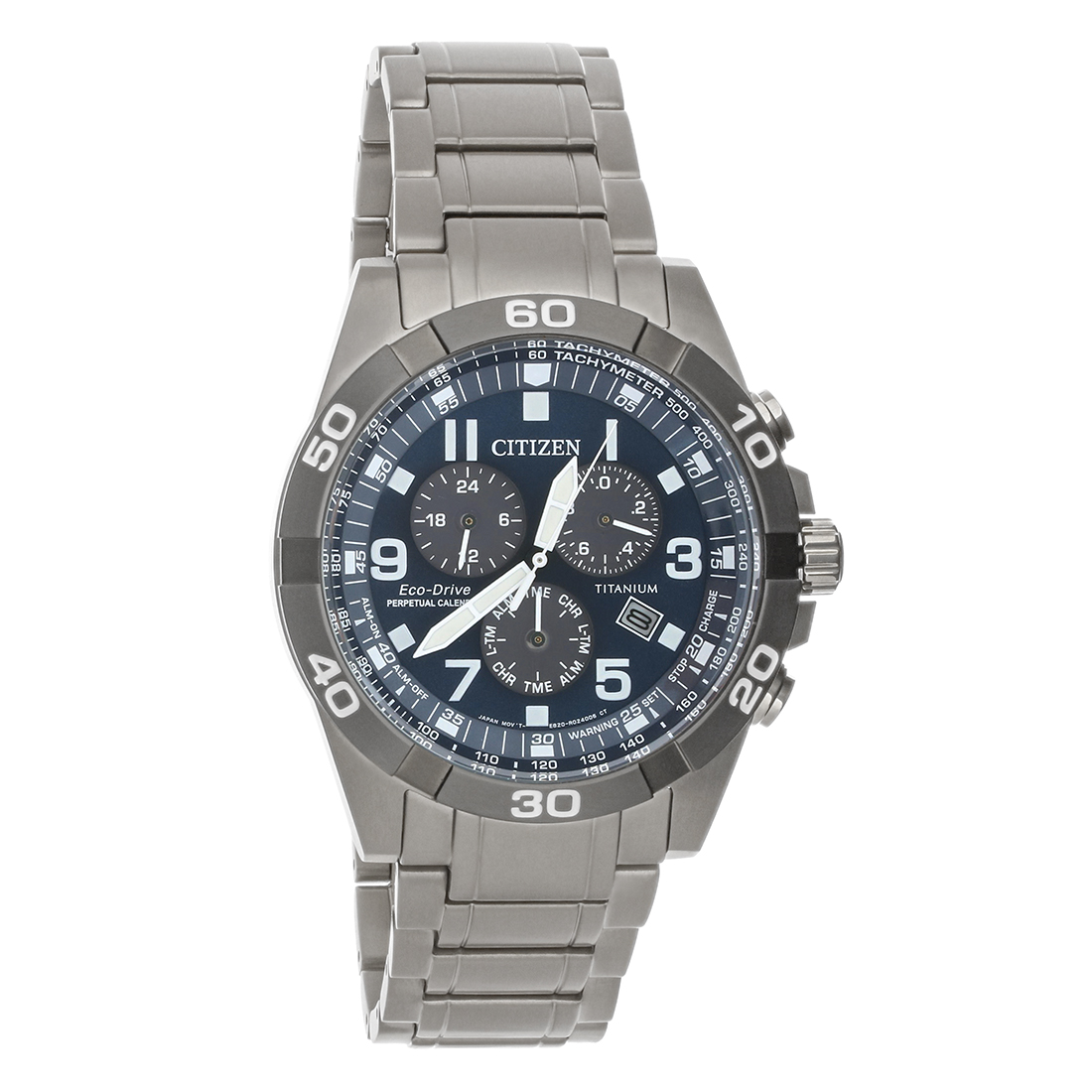 8885dfaae6a Citizen Eco Drive Mens Brycen Chronograph Super Titanium Watch BL5558-58L