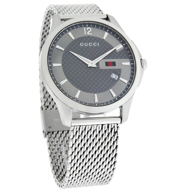 3125863ff55 Gucci 126 G-Timeless Mens Stainless Steel Swiss Quartz Watch YA126301