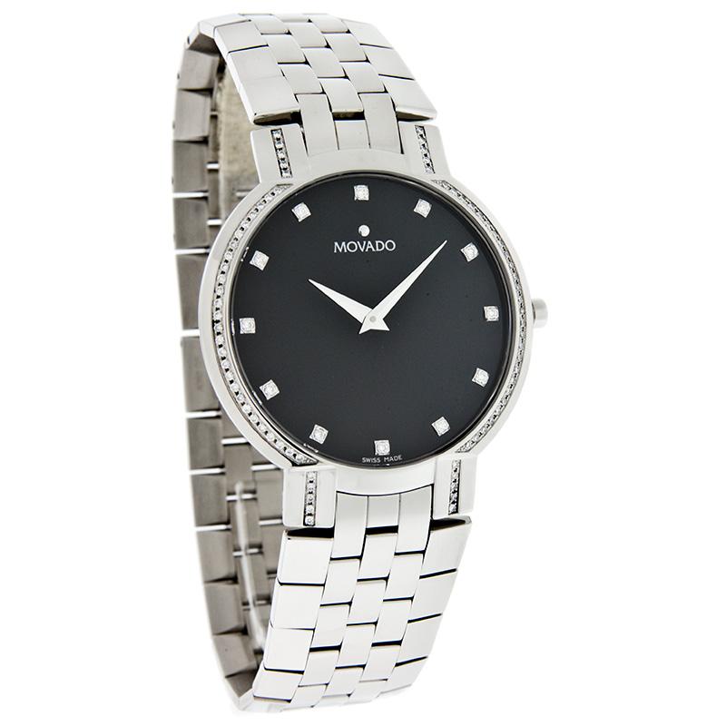 Mens Michele Diamond Watch