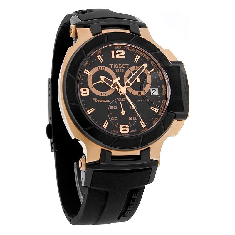 Tissot T-Race Chronograph Mens Black Dial Swiss Quartz Watch  T048.417.27.057.06 4f669ce8c47