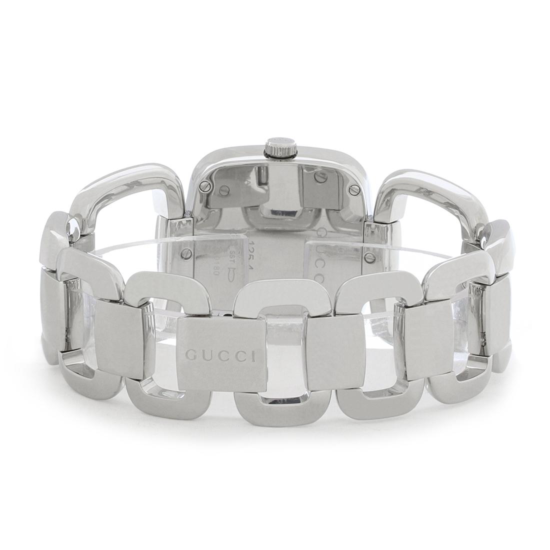 874fafebc08 Gucci 125 G Series Ladies Diamond Stainless Steel Quartz Watch YA125406