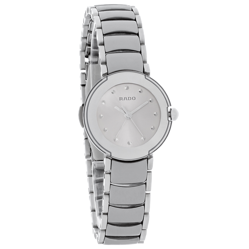 81fe8639568 Rado La Coupole Ladies Gray Dial Platinum Ceramic Swiss Quartz Watch  R22594102