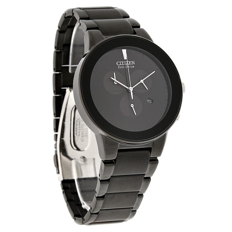019b0a364e5 Citizen Eco-Drive Mens Axiom Series Black Chronograph Watch AT2245-57E