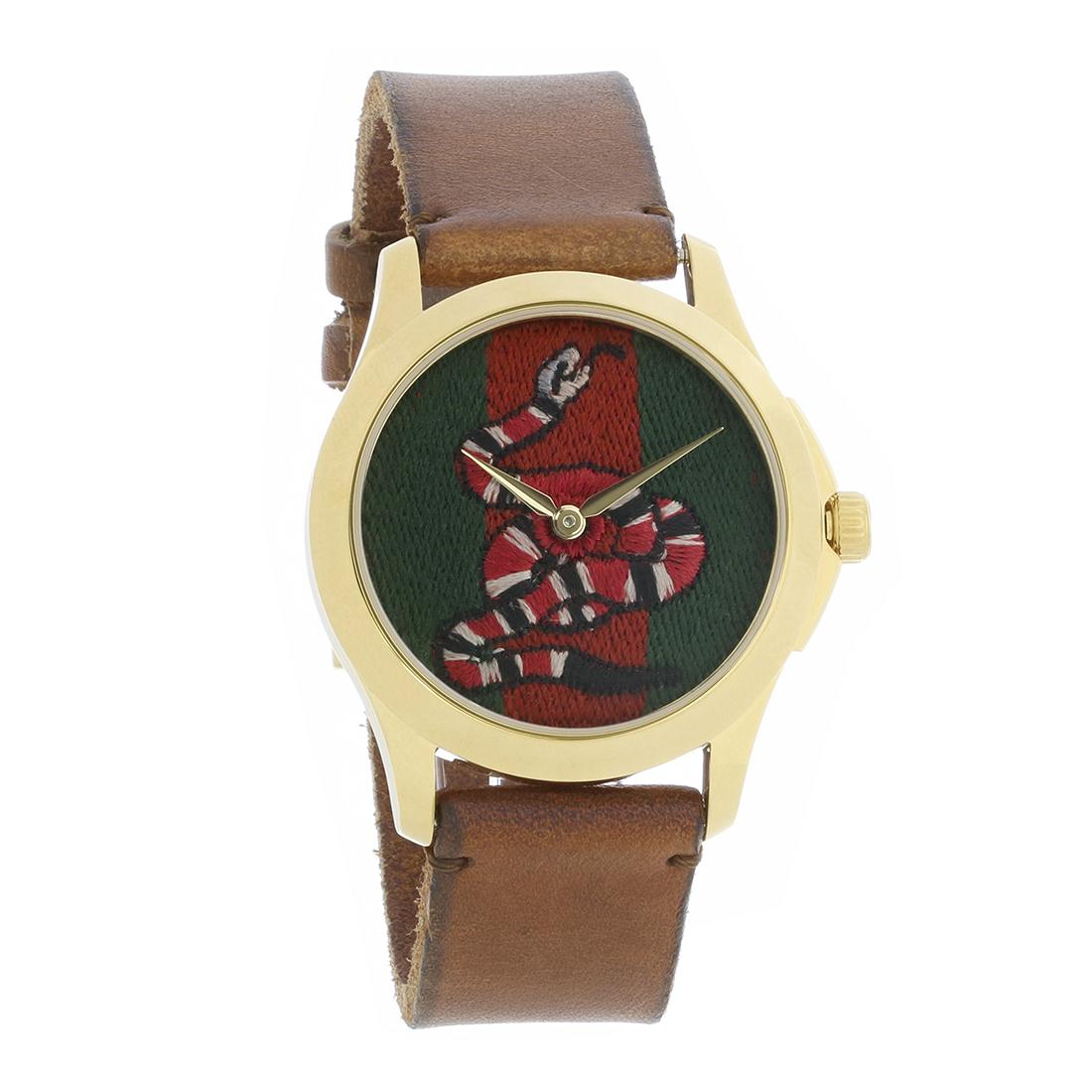 c8a982501bb Gucci 126 Le Marché Des Merveilles Series Mens Swiss Quartz Watch YA1264012